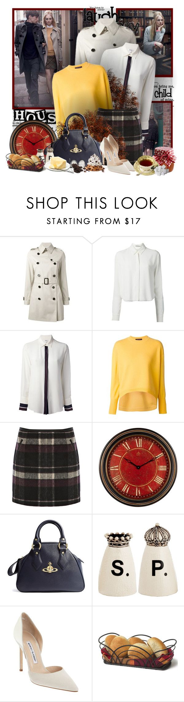 """""""№ 276"""" by olga3001 ❤ liked on Polyvore featuring Burberry, T By Alexander Wang, Nicole Farhi, Cédric Charlier, Oasis, Uttermost, Vivienne Westwood, Magenta and Manolo Blahnik"""