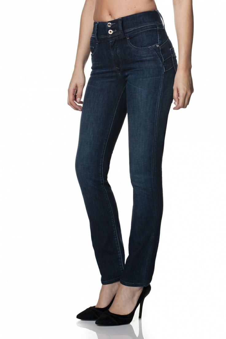 Slim leg Push-In Secret jeans with detailing