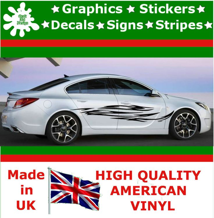 """10"""" High Car Side Stripes Graphic Decal Vinyl Stickers Van Auto Rally Race F3_13"""