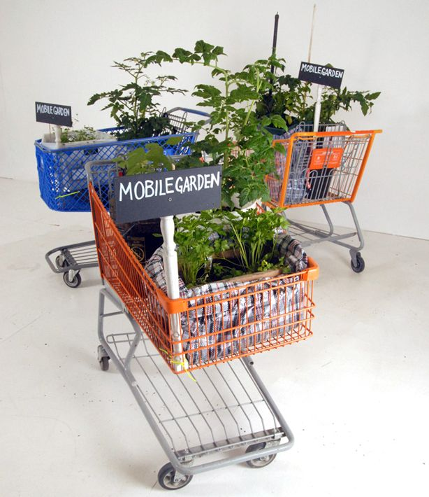 S.O.S. Mobile Garden is a discarded shopping cart, suitcase, baby carriage, even a commode, retrofitted into a mobile edible garden for the purpose of engaging the public in debates about important issues such as recycling, food justice, urban decay, and just about any current socio-economic and environmental issue you can think of. How about a pick your own herb garden business?