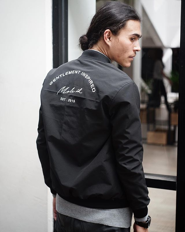Gentlement Inspired Black Bomber Jacket has been released ! Very Limited edition!  Only 175K IDR - MALE.ID (@male.id)