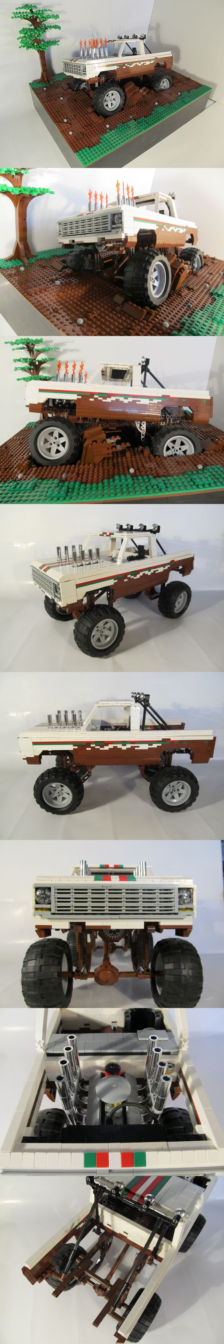 "LEGO ""Octan Racing"" 1973 Chevy pickup mud racer"