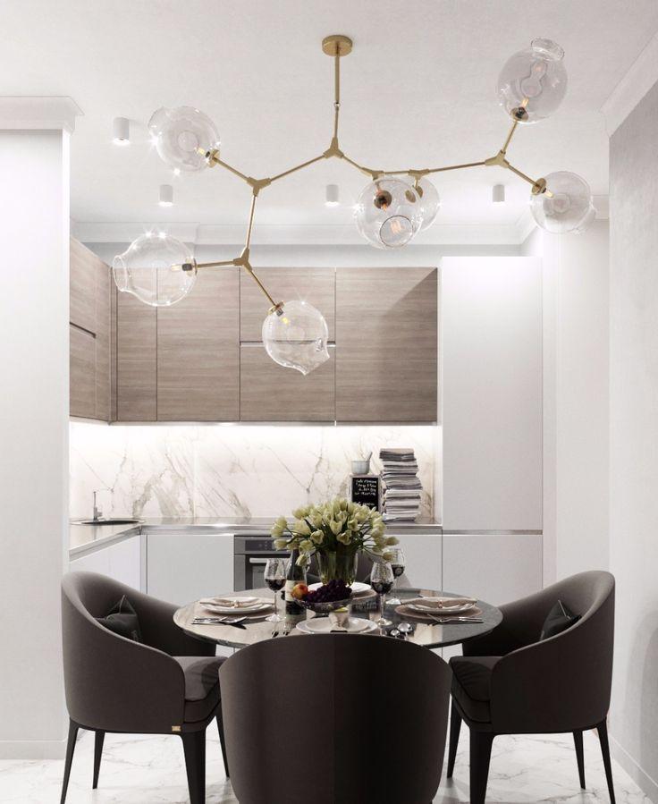 177 отметок «Нравится», 2 комментариев — Студия дизайна BALCÓN (@balcon.studio) в Instagram: «Компактная кухня и обеденная зона в современном стиле.  Нужен дизайн-проект? Ждем вас у нас на…»