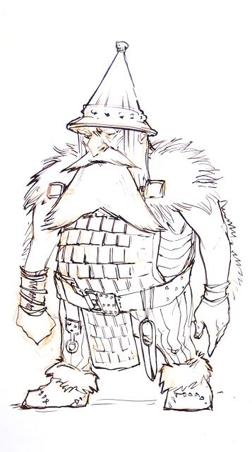 Dwarf nobleman character concept from my sketchbook
