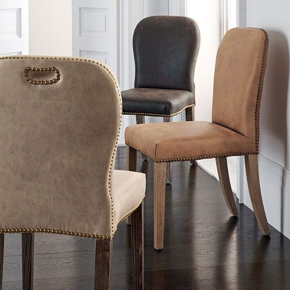best 25 leather dining chairs ideas on pinterest. Black Bedroom Furniture Sets. Home Design Ideas