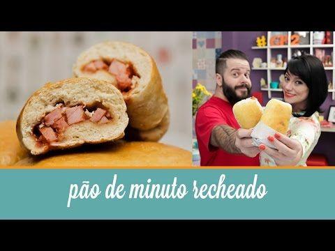 ▶ Pão de Minuto Recheado (massa fácil com 2 ingredientes, pronto em 20 minutos)   Cozinha para 2 - YouTube