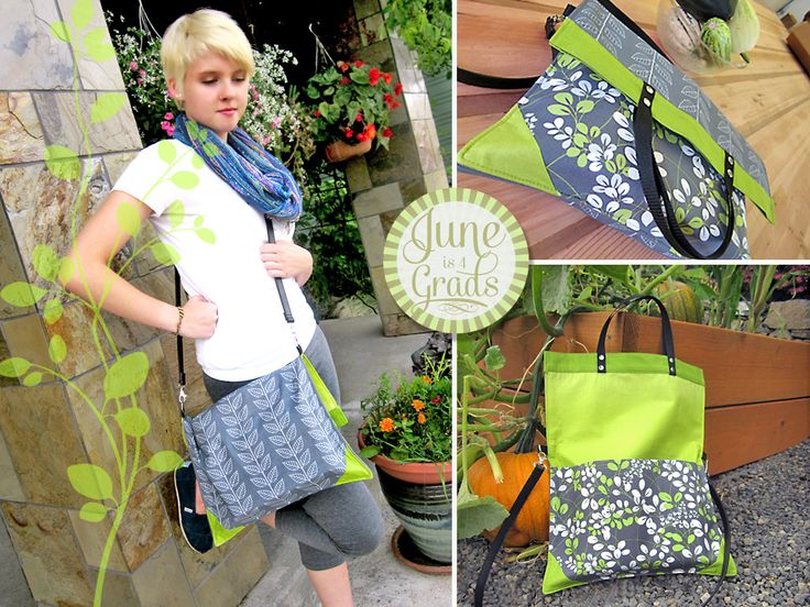 June is 4 Grads: Fold Over Book Bag/Tote