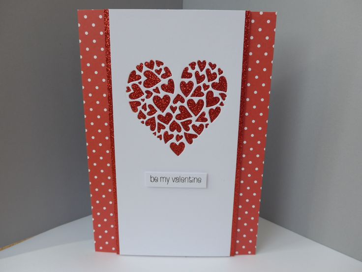 Card made using Creative Expressions Sue Wilson's Heart of Heart die.
