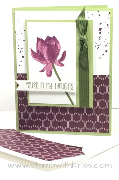 Lotus Blossom is a Stampin' Up! 2015 Sale-A-Bration gift and a 3-step stamping set!  Details at http://stampwithkriss.com/lotus-blossom-sympathy