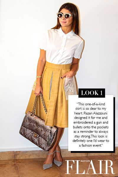 7 Days Of Chic Alamira Noor Bani Hashim Clothes Pinterest Fashion Days Fashion And Chic