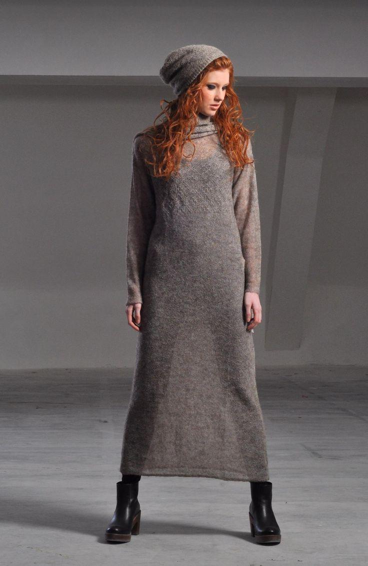 Mohair dress Mary with beautiful Lovikka patterns #aw14 #fallfashion #autumnwinter14 #fashion #knitwear #knits #wooldress #Swedishdesign #Swedishfashion #Scandinaviandesign #scandinavianfashion #Scandinavianstyle #swedishstyle #norrland