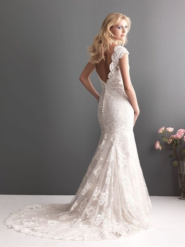 white ivory off shoulder lace mermaid bridal wedding gown fishtail wedding dress