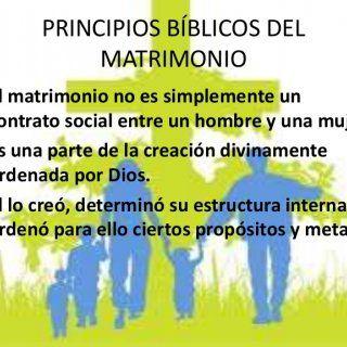 PRINCIPIOS BÍBLICOS DEL MATRIMONIO • El matrimonio no es simplemente un contrato social entre un hombre y una mujer. • Es una parte de la creación divinamen. http://slidehot.com/resources/principios-biblicos-del-matrimonio-1.25943/