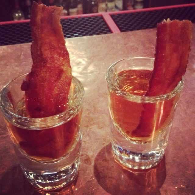 Pancake Breakfast Shots- Jameson Whiskey, Butterscotch Schnapps & BACON!