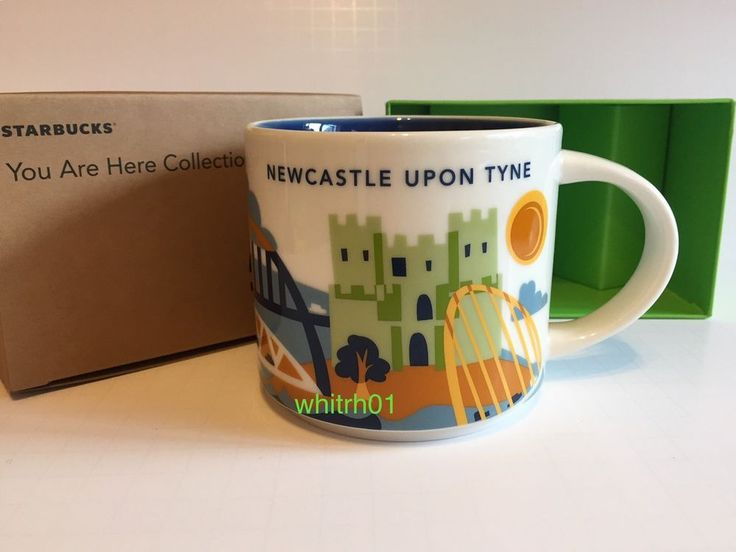 Starbucks Newcastle Mug Yah Bridge Tyne Soccer Football You Are Here England Uk