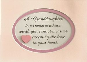 words for my granddaughter