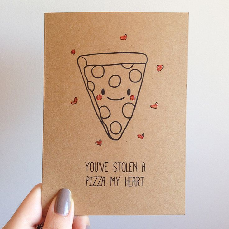 Funny Pizza Pun Valentines Day Card // Quirky Cute Love Italian Takeout Food by SubstellarStudio on Etsy https://www.etsy.com/listing/175826750/funny-pizza-pun-valentines-day-card