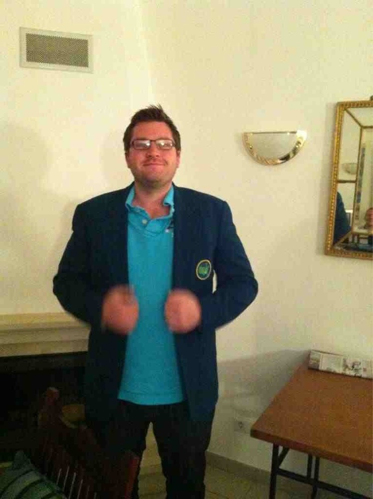 The Green Jacket for the victorious captain of the 2012 #hareycup