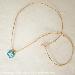 TalisgirlCharms-sterling silver-enamel-Pegasus-charm-on-handmade-cord-137-WEB