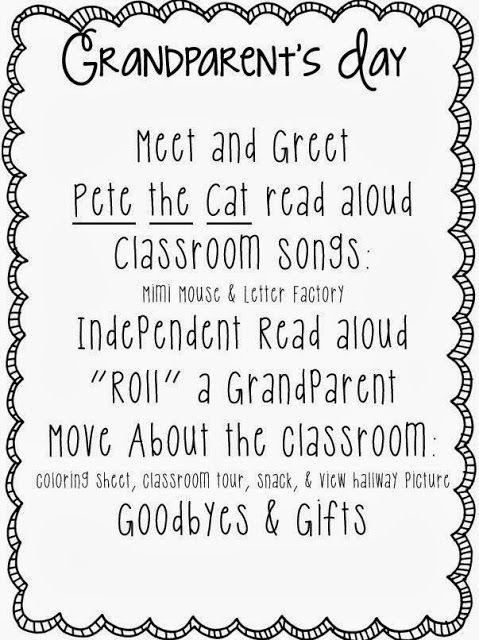 Little Minds at Work: Grandparent's Day {freebies included}