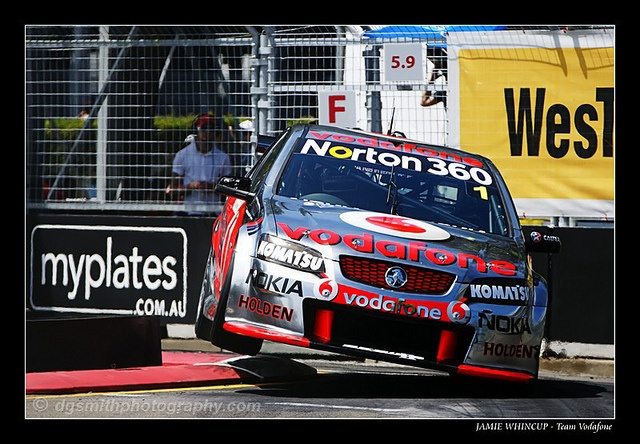 Jamie Whincup - Team Vodafone - V8 Supercars As a photographer I have a passion for photographing the V8 supercars.