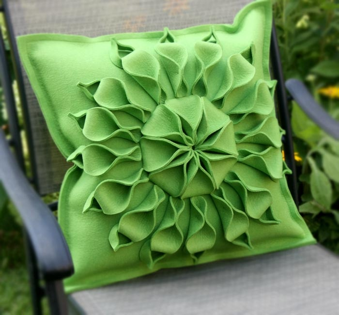 Handmade Wool Felt Pillow