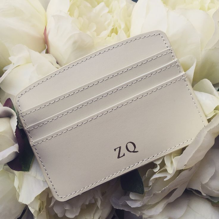 Gold embossed initial monogram leather wallet £28