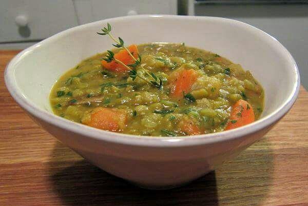 Split pea veggie soup from science of skinny
