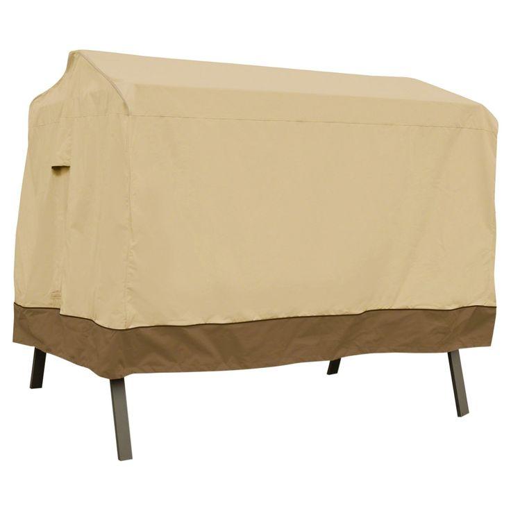 "Veranda Patio Canopy Swing Cover - 78 x 60"" x 72"" - Light Pebble - Classic Accessories"