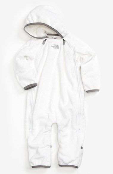 Free shipping and returns on The North Face 'Buttery' Fleece Bunting (Baby) at Nordstrom.com. Plush, baby-soft fleece warms a hooded bunting with fold-over cuffs and hems that keep little hands and feet warm. Dual zippers extend from neck to knees for easy on and off, while snaps between the legs allow baby to stay cozy during diaper changes.