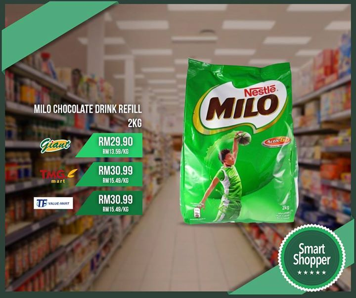 Milo Chocolate Drink Refill 2KG cheapest today at Giant for only RM 29.90!  Have you downloaded the SmartShopper App? It's the best way to get the best deals for your daily essentials.   Download here: smartshopper.my/get #fashion #style #stylish #love #me #cute #photooftheday #nails #hair #beauty #beautiful #design #model #dress #shoes #heels #styles #outfit #purse #jewelry #shopping #glam #cheerfriends #bestfriends #cheer #friends #indianapolis #cheerleader #allstarcheer #cheercomp  #sale…
