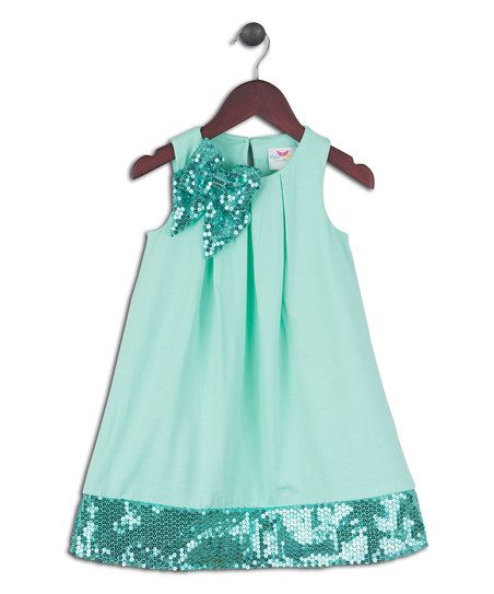 Cabbage Stretch Glitter Bow Dress - Infant & Toddler   zulily