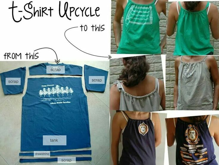 Easily Convert T Shirt To Tank Top Crafty Ideas
