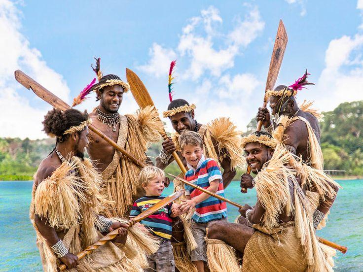 Meet the locals at Poppy's on the Lagoon Resort, Vanuatu  www.islandescapes.com.au