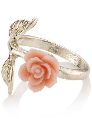 Mini Carved Rose And Leaf RingLeaf Rings, Pink Flower, Carvings Rose, Flower Rings, Products Display, Fashion Style, Flower Accessories, Minis Carvings, Fantasy Shopper