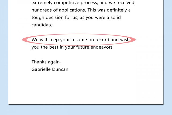 48++ Rejection letter after interview to candidate ideas in 2021