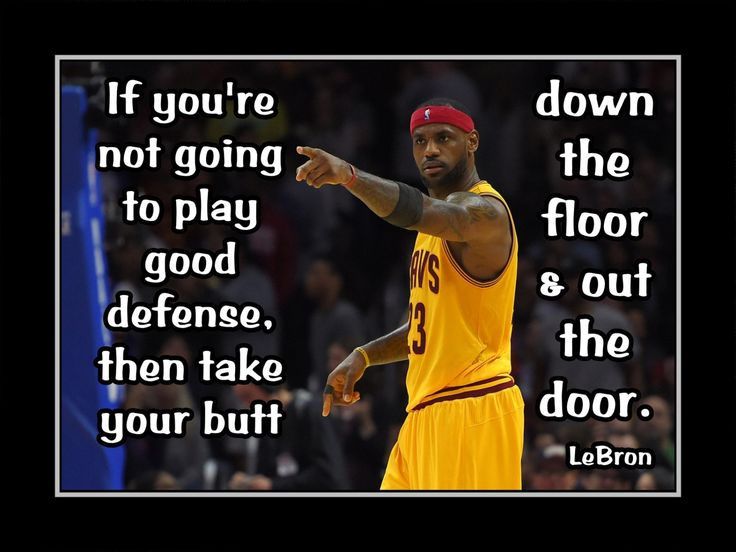 """Basketball Motivation Lebron James Quote Poster Wall Art Print 5x7"""" to 8x11"""" Play Defense or Go Down The Floor & Out The Door- Free Ship by ArleyArt on Etsy"""