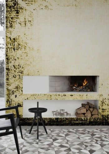 Our Gorgeous Contemporary Wall Carpet Wallpaper Mural By Behangfabriek  Features A Highly Faded Rug With Subtle
