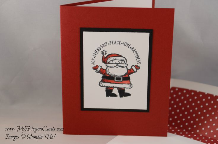 Stampin' Up! Get Your Santa On Christmas card