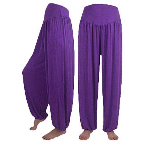 0f286efa7d MOIKA Leichte Haremshose in Viele Muster Damen Pumphose Haremshose  Einfarbig Lange Hose Damen Sommerhose Pumphose Yoga