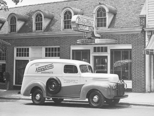 1937 The first Krispy Kreme doughnut is sold in Salem, North Carolina. | Our History | Krispy Kreme – Coffee & Doughnuts Since 1937