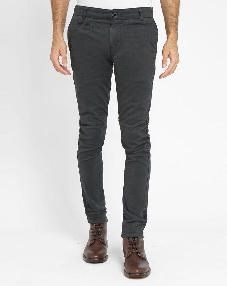 Pantalon MenLook, achat Chino stretch gris KNOWLEDGE COTTON APPAREL prix promo MenLook 109,00 €