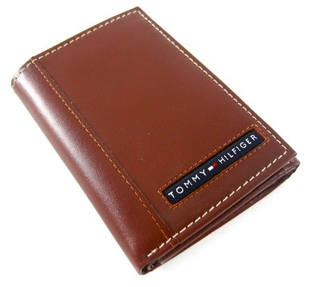 Tommy Hilfiger Cambridge Tan Trifold Wallet - Tommy Hilfiger Wallets - Designer Wallets