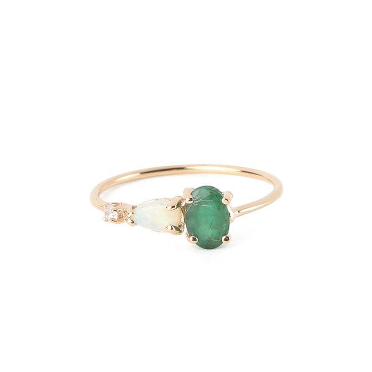 Loren Stewart Green Opal Ring #Jewelry #Loren-Stewart #Women