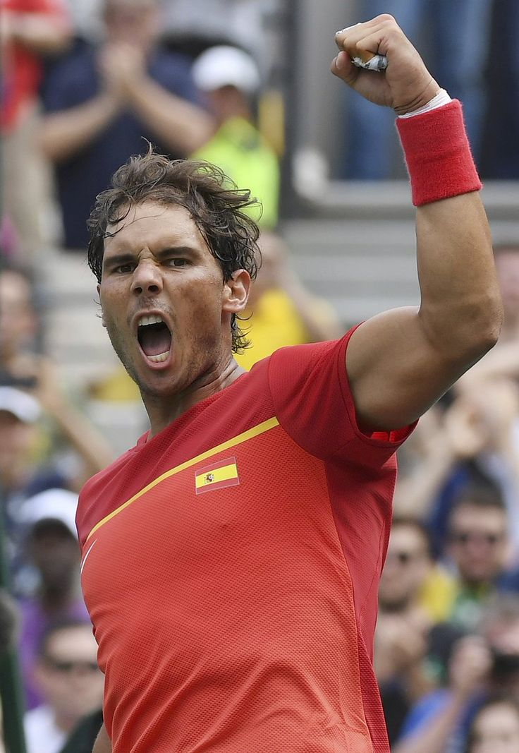 Rafael Nadal improves to a perfect 9-0 in Olympic singles matches after def. Gilles Simon in straight sets - Rio 2016 - from Tennis Photos @tennis_photos