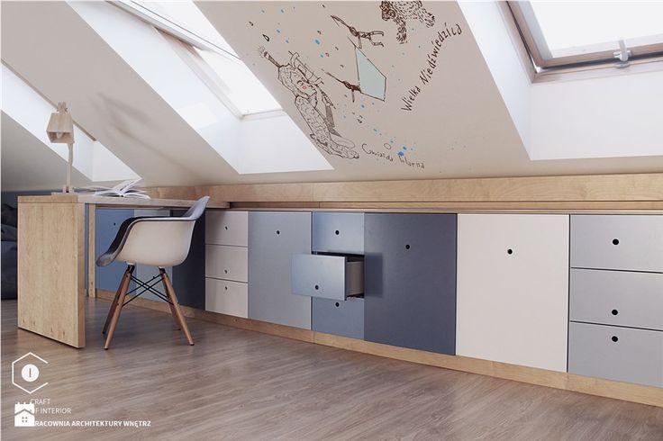 Realizacja pokoju dla chłopca w wieku szkolny. - Średni pokój dziecka dla chłopca dla dziewczynki dla ucznia dla nastolatka, styl nowoczesny - zdjęcie od COI Pracownia Architektury Wnętrz