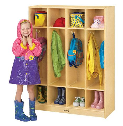 COAT LOCKER - 4 SECTIONS | Honor Roll Childcare Supply - Early Education Furniture, Equipment and School Supplies.
