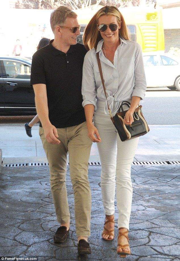 Loving couple: Patrick Kielty and Cat Deeley enjoyed lunch together at the E Baldi restaurant in Beverly Hills on Tuesday
