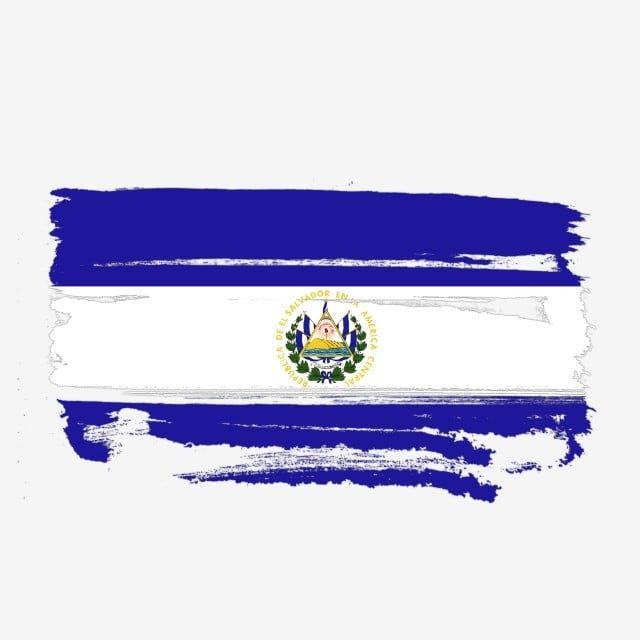 Bandera De El Salvador Transparente Con Pincel De Acuarela El Salvador Bandera De El Salvador Vector De Bandera De El Salvador Png Y Psd Para Descargar Grati Bandera De El Salvador