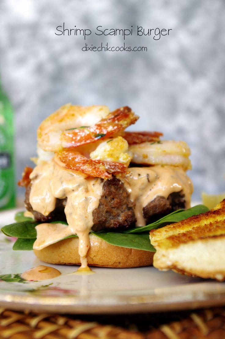 Shrimp Scampi Burger